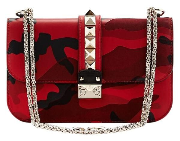 3eba772850c4a Valentino Rockstud Garavani Vitello Medium Glam Lock Leather  2349 Camo Red  Camo Cross Body Bag. Get the trendiest Cross Body Bag of the season!