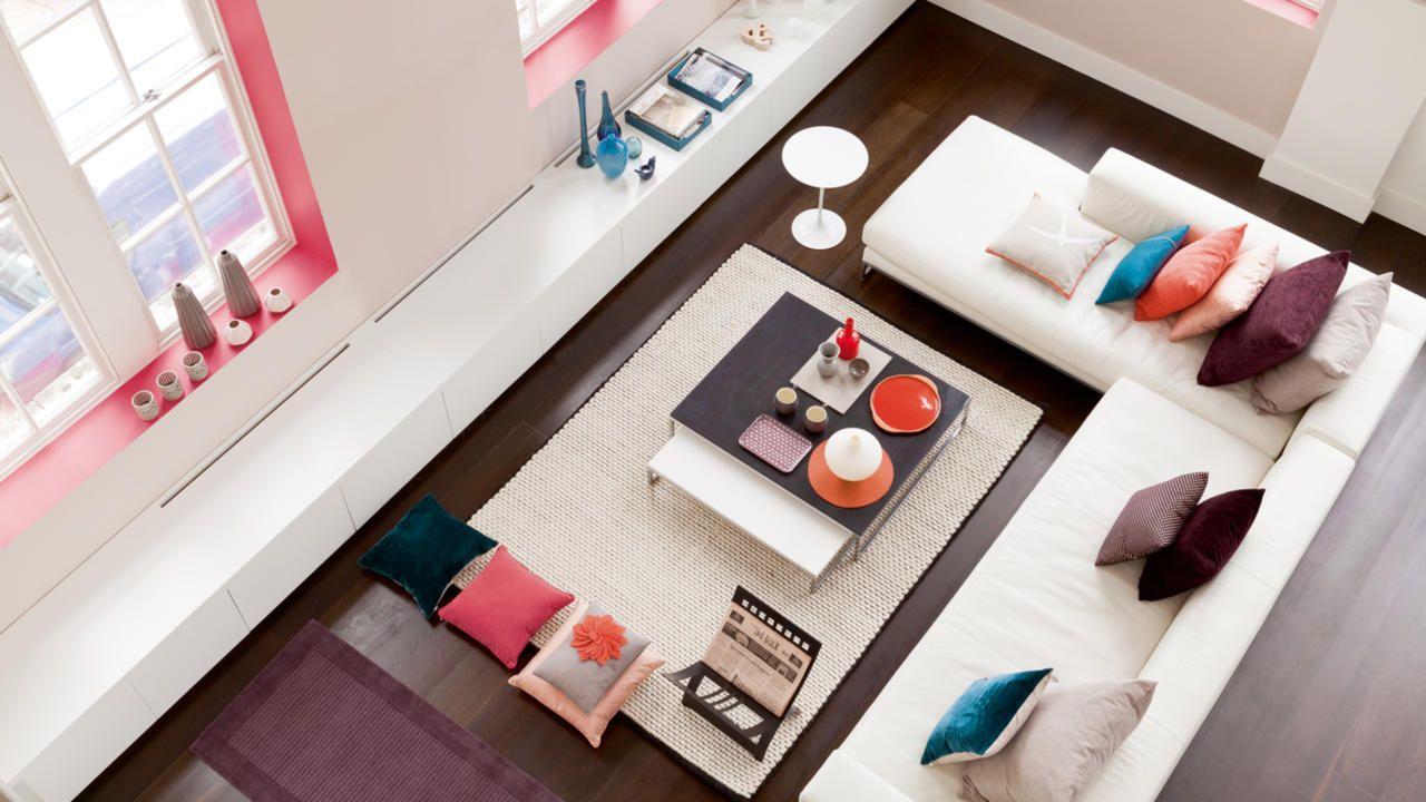Salon Taupe Et Turquoise déco épurée pour un salon paisible   idee peinture salon