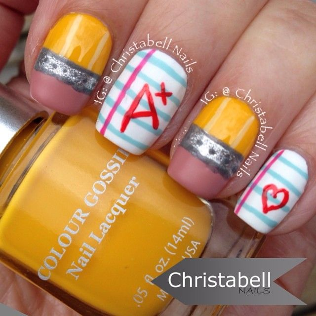 Instagram media by christabellnails - back to school #nail #nails ...
