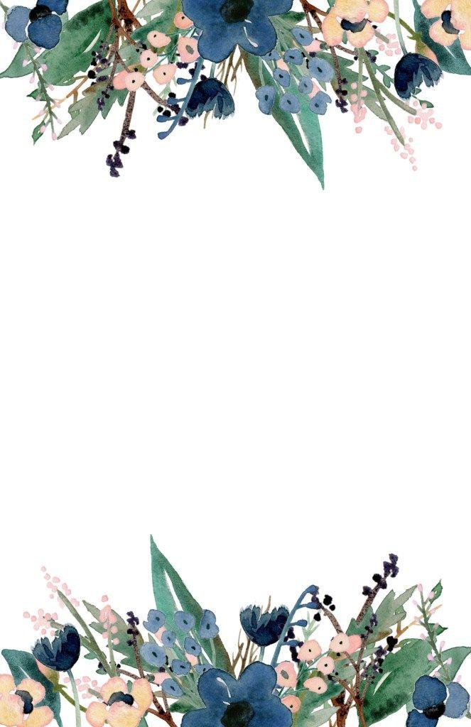 Blue Free Printable Invitation Templates | Paper Trail Design