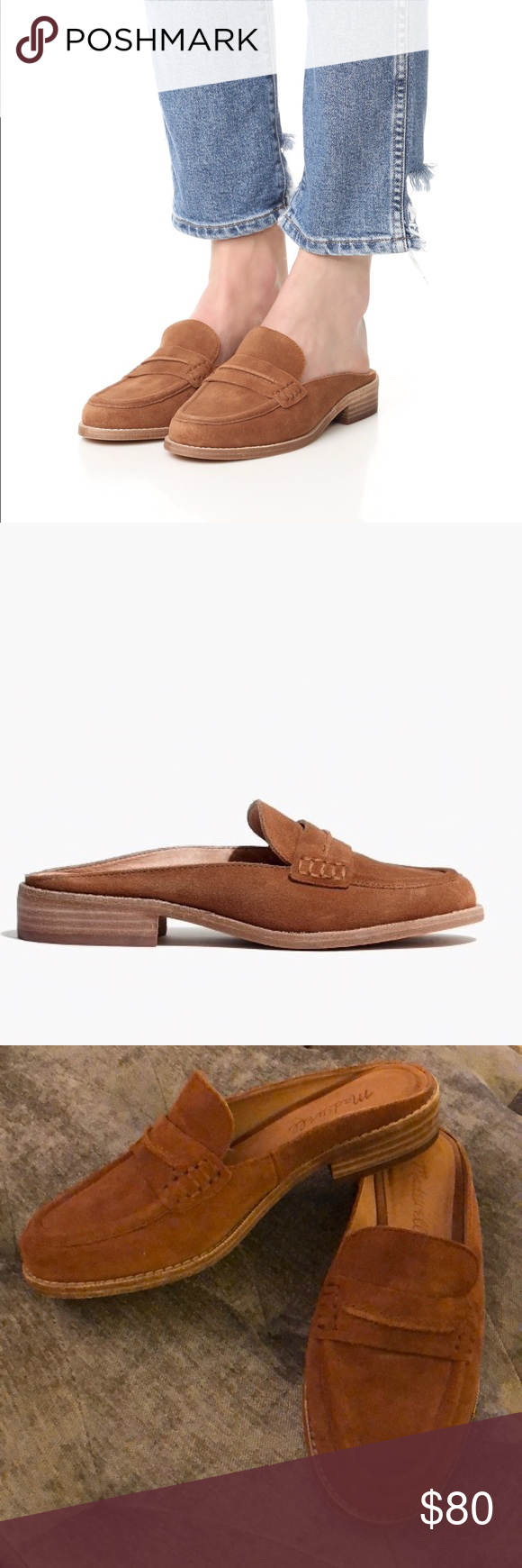2f2b3ce9a939 Madewell Elinor Loafer Mule Madewell Elinor Loafer Mule In Brown suede  leather in a size 6. These run true to size. Only worn twice and in  excellent ...
