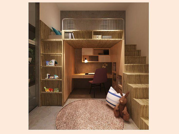 Casasamp se puede integrar un escritorio a una cama for Diseno habitaciones pequenas