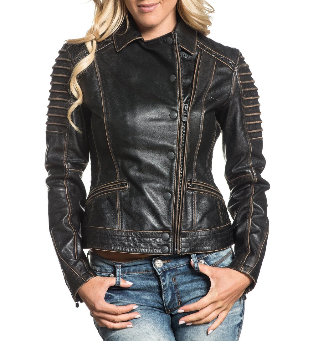 Affliction Women's Moto Jacket Affliction Clothing