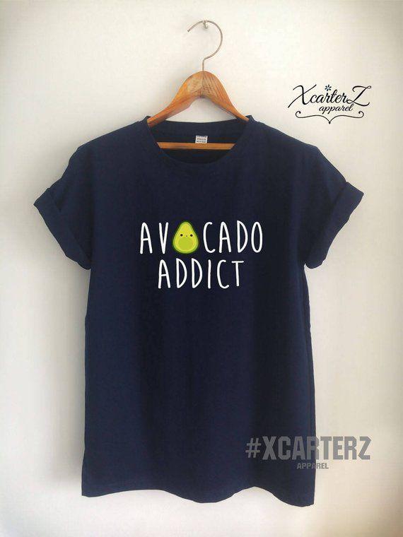 f1691eb218d Vegan Shirt Avocado T Shirt Vegan T Shirt Avocado Shirt Avocado Addict Shirt  Vegan Merch Women Girls