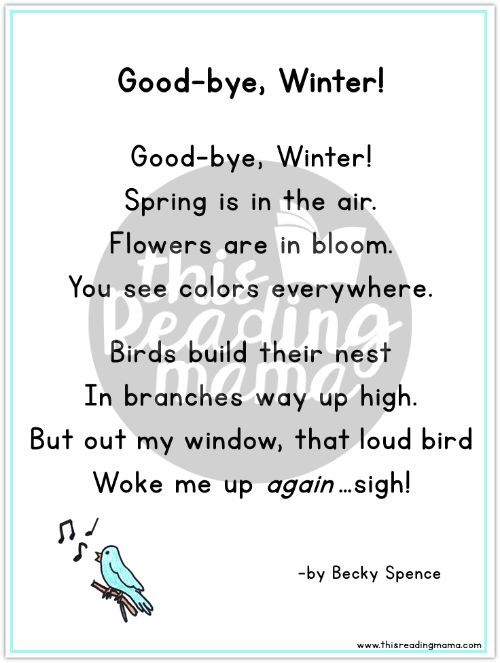 Awesome  Short Poems For Kids of the Month From i.pinimg.com