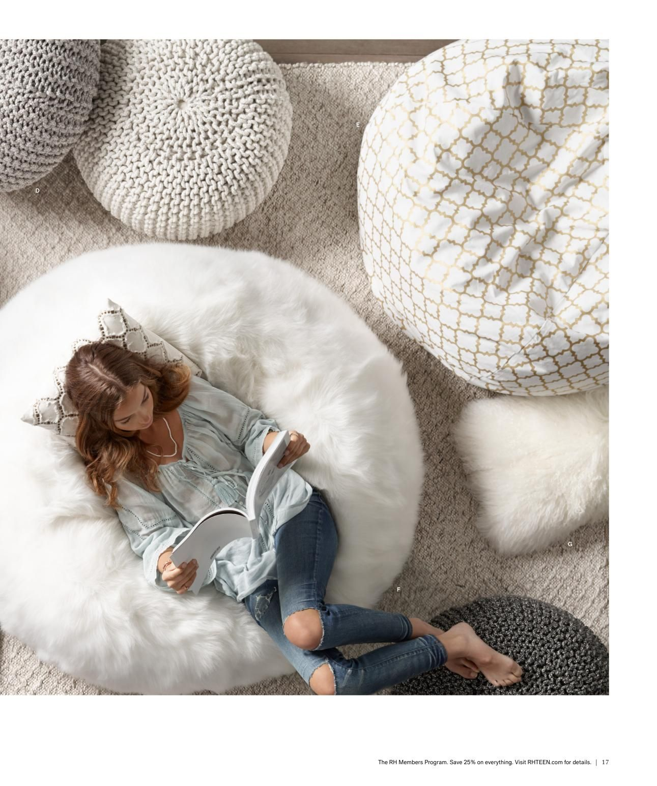 love the faux fur bean bag chair and pillow