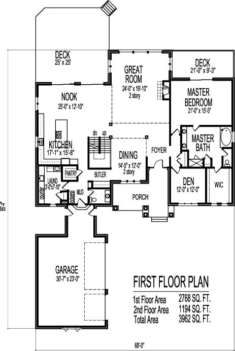 4000 Sf Contemporary 2 Story 4 Bedroom House Plans 4 Bath 3 Car Garage Basement House Plans Open Floor House Plans Floor Plan 4 Bedroom