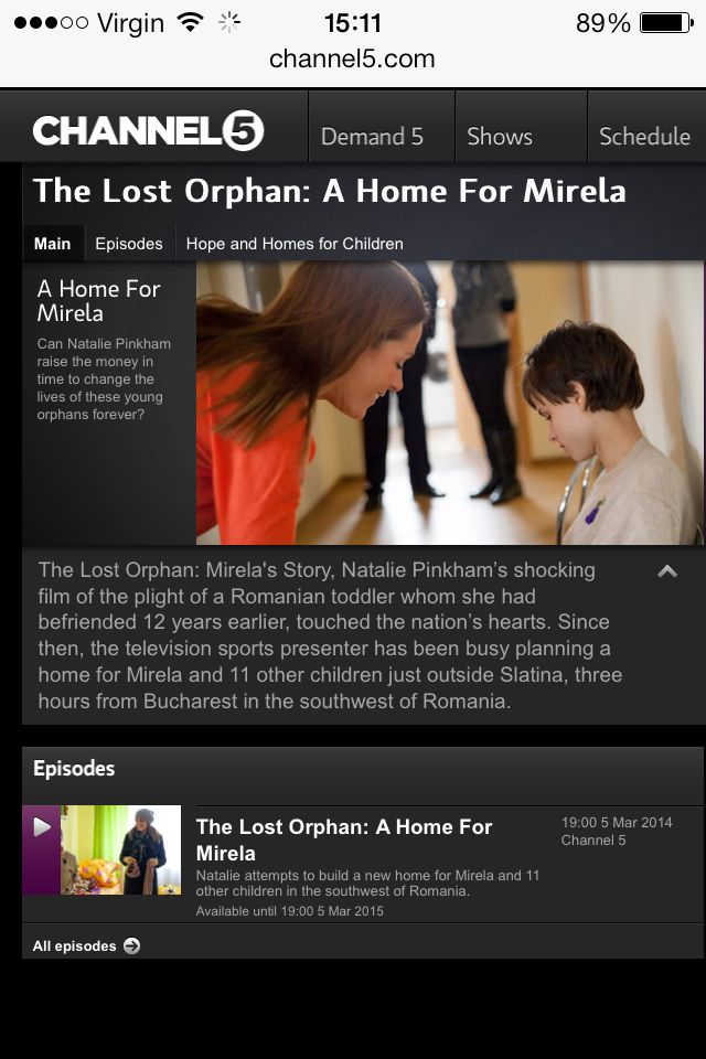 The Lost Orphan A Home For Mirela