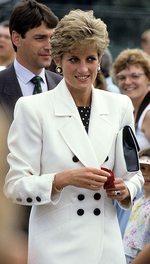 Princess Diana at Federation Cup Tennis Ceremonies July