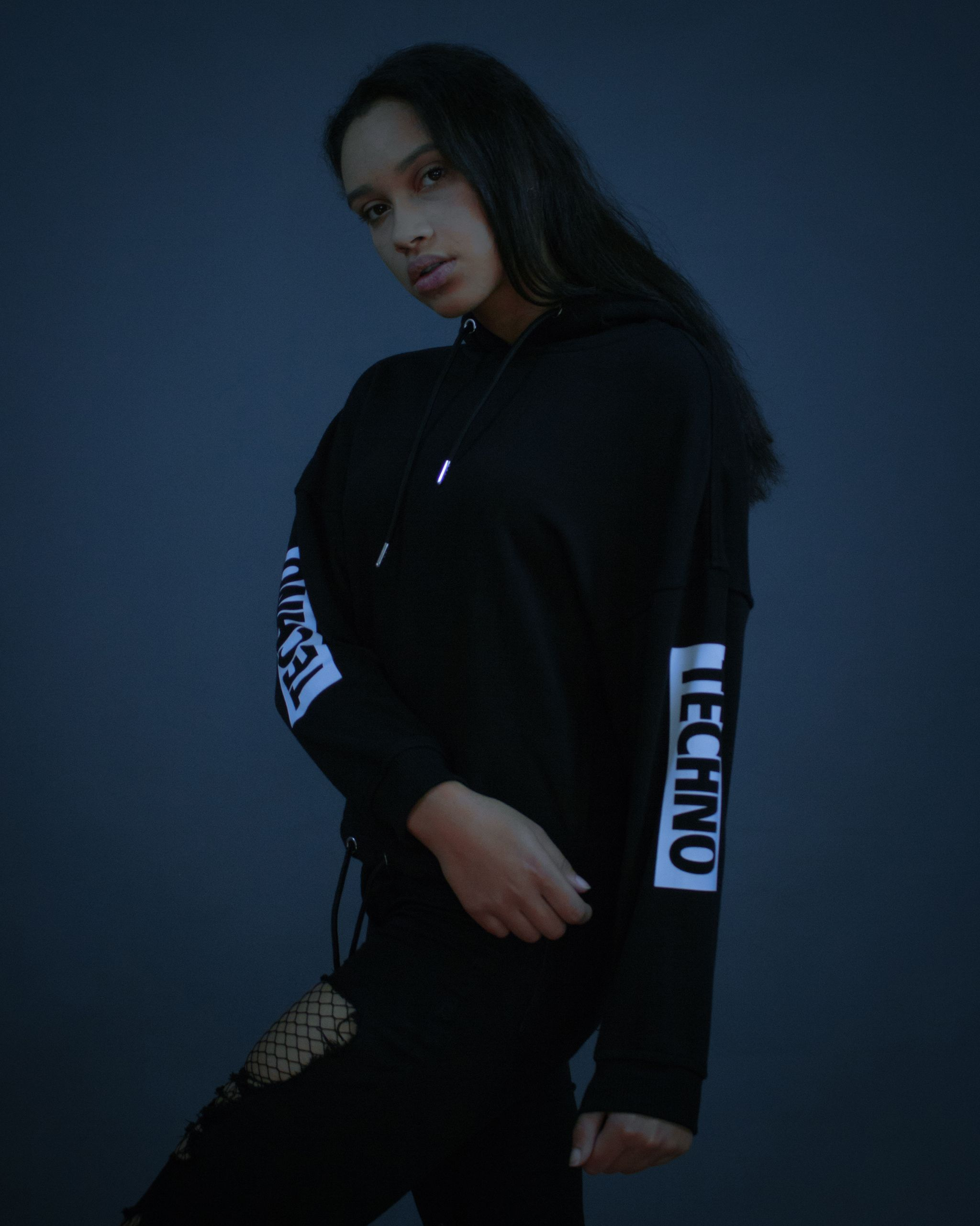 Techno Hoodie in schwarz | RAVE Clothing