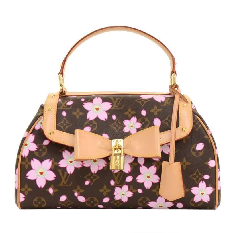 e3c40632f288 Louis Vuitton Sac Retro PM Cherry Blossom Monogram Canvas Murakami Hand Bag