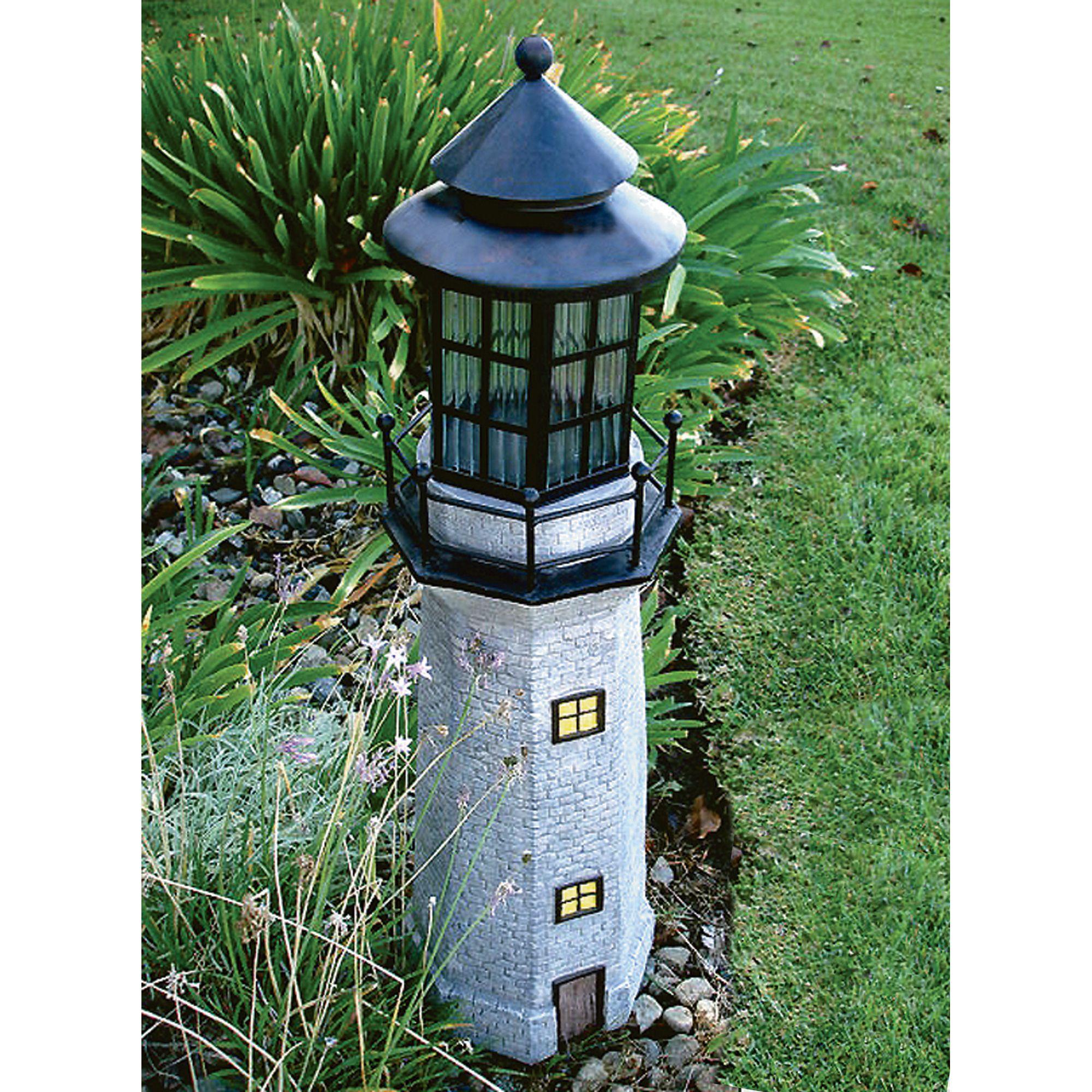 Solar Lighthouse Garden Decoration, Gray   www.kotulas.com   Free ...