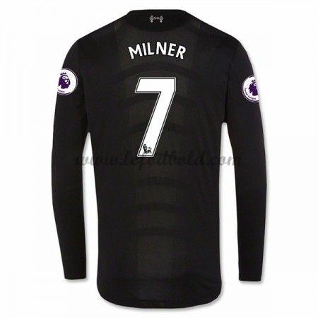 Billige Fodboldtrøjer Liverpool 2016-17 James Milner 7 Langærmet Udebanetrøje