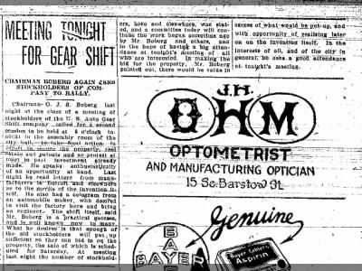 Eau Claire Leader 2 June 1917 Boberg Newspaper clippings