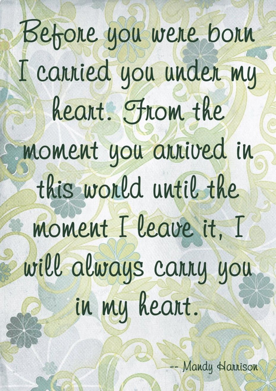 Love My Son Quotes Always Carry You In My Heart  My Sons  Pinterest  Daughters