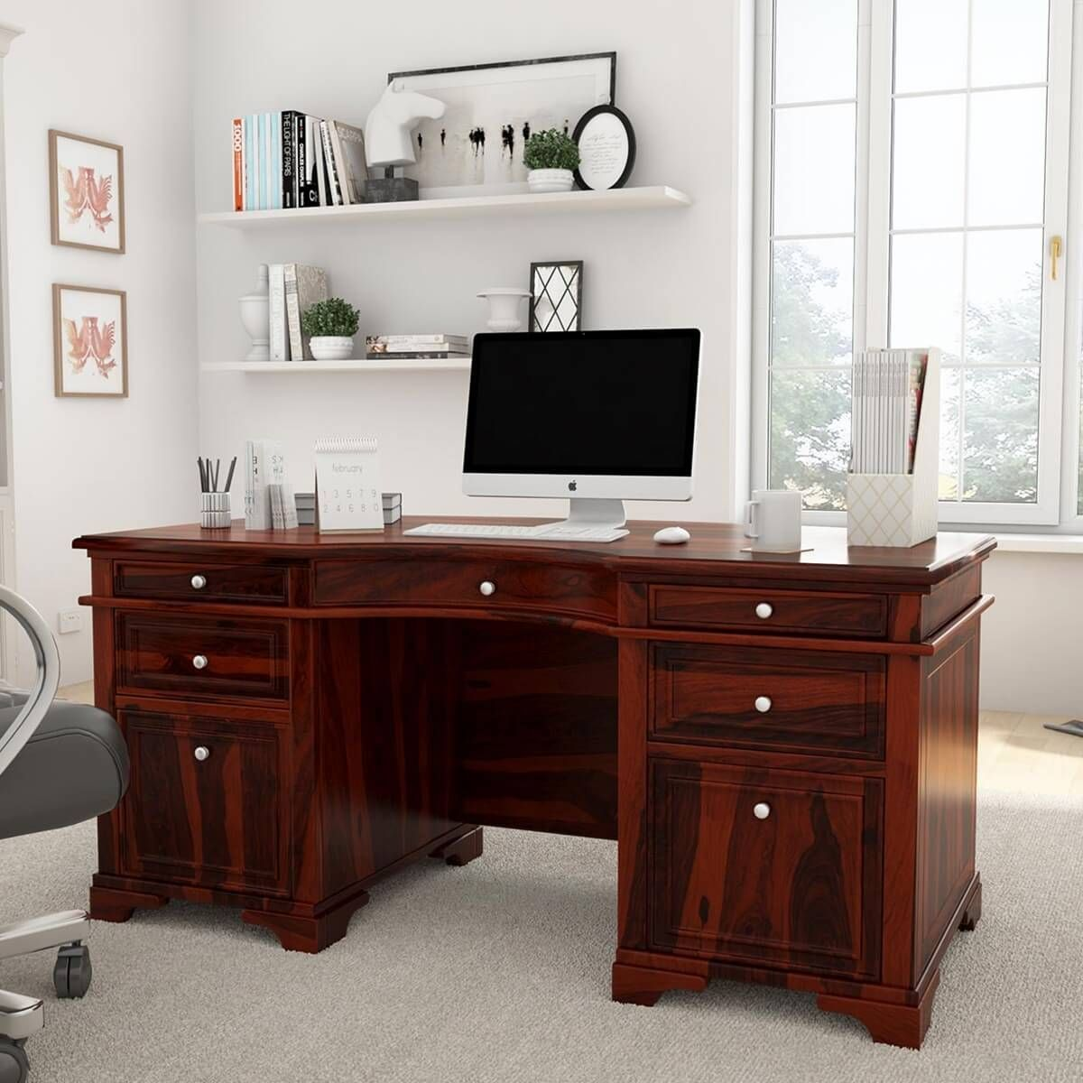 Nice 12 Clever Concepts Of How To Make Rustic Home Office Desk For You Rustic Home Offices Home Office Design Home Desk