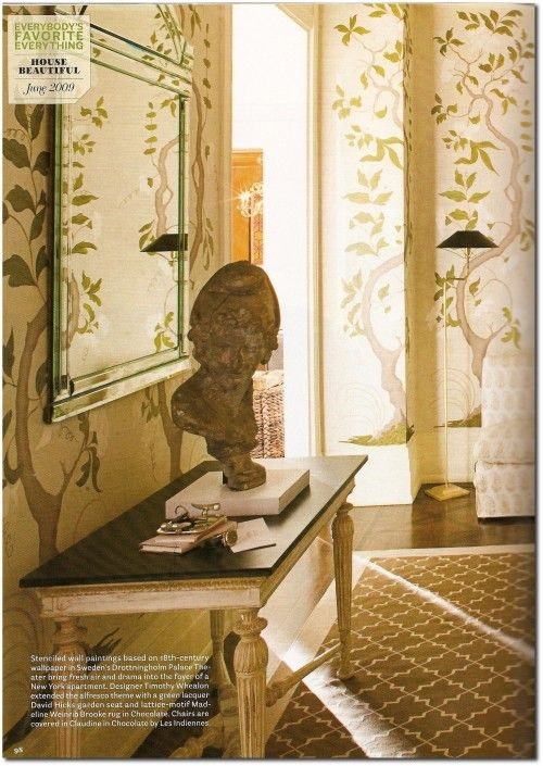 Designer Timothy Whealon Stenciled Walls In 18th Century