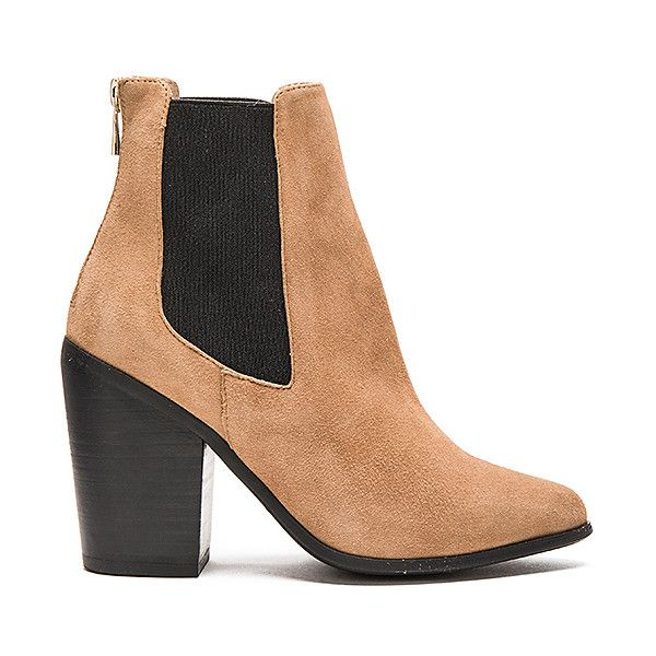 RAYE Evie Bootie Shoes (335 CAD) ❤ liked on Polyvore featuring shoes, boots, ankle booties, booties, elastic ankle boots, bootie boots, short boots, ankle boots and high heel ankle booties