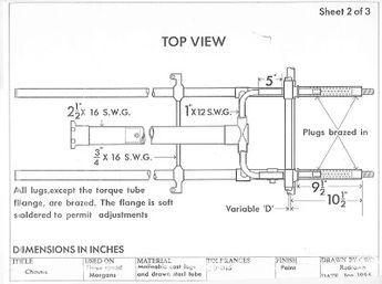 morgan 3 wheeler diagram morgan three wheeler chassis drawing   car   reverse trike ...