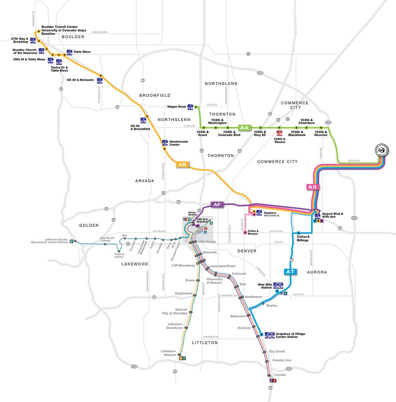 SkyRide for getting around Denver - take from airport to