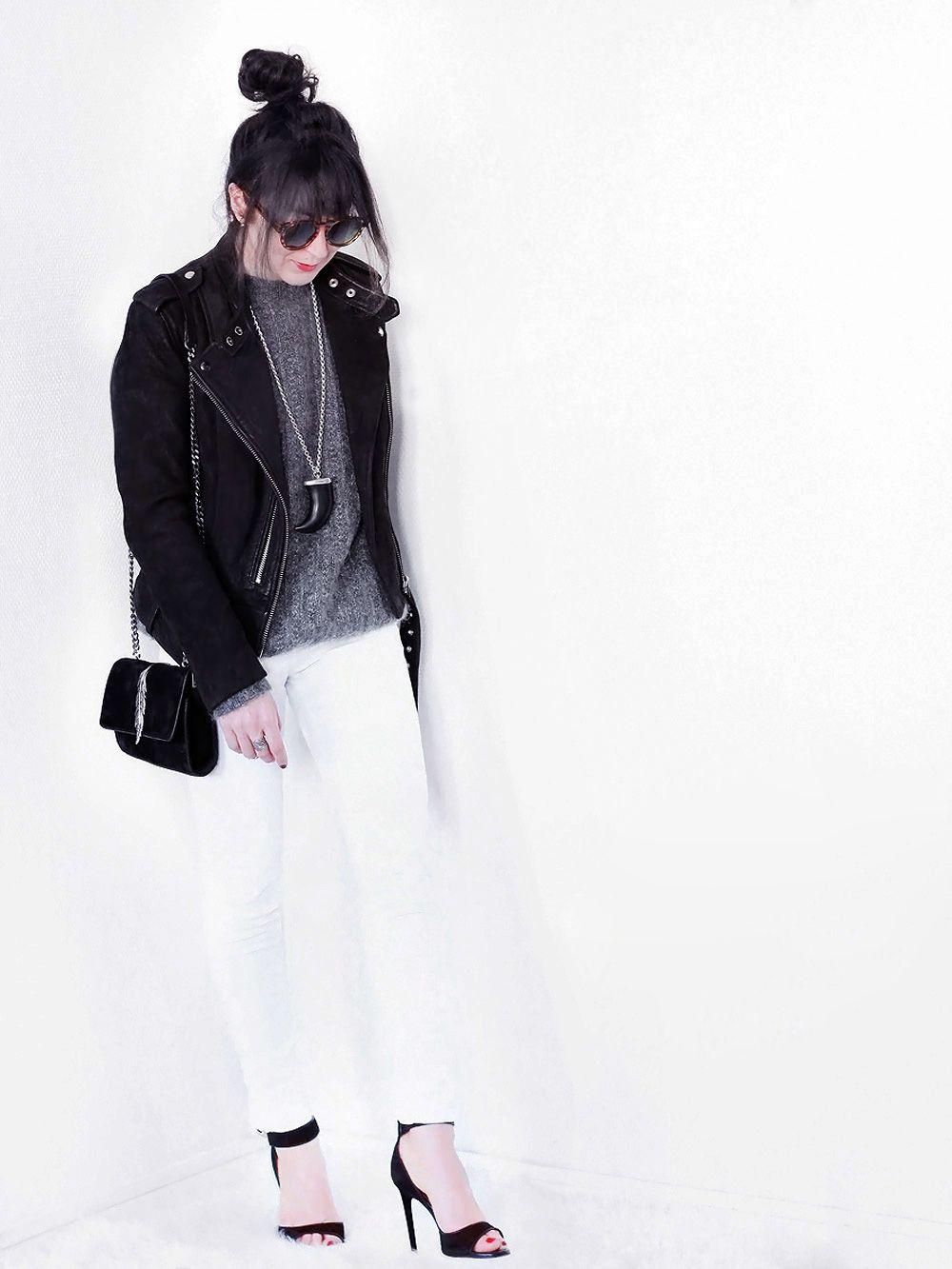 Perfecto Plume Denim Sac Sandales Jean Blanc Givenchy Studio Iro Ybf7m6Igyv