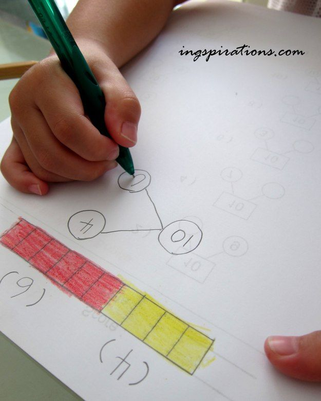Teaching number bonds to little ones