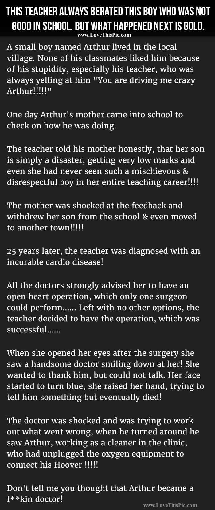 Teacher Always Berated This Boy Who Was Not Good In School But Never Expected This Funny Jokes Story Lol Funny Funny Quotes Funny School Stories Joke Stories