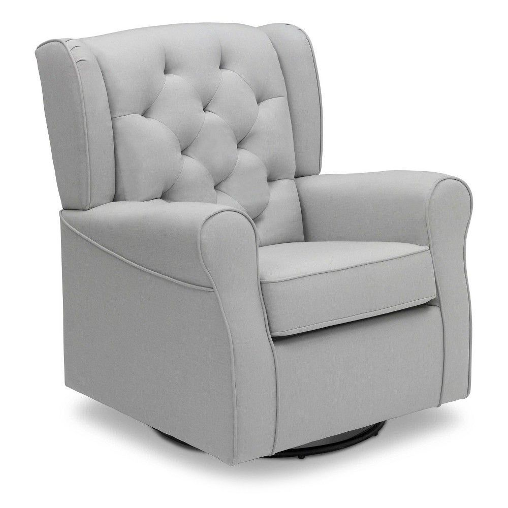 Delta Children Emma Nursery Glider Swivel Rocker Chair French Grey