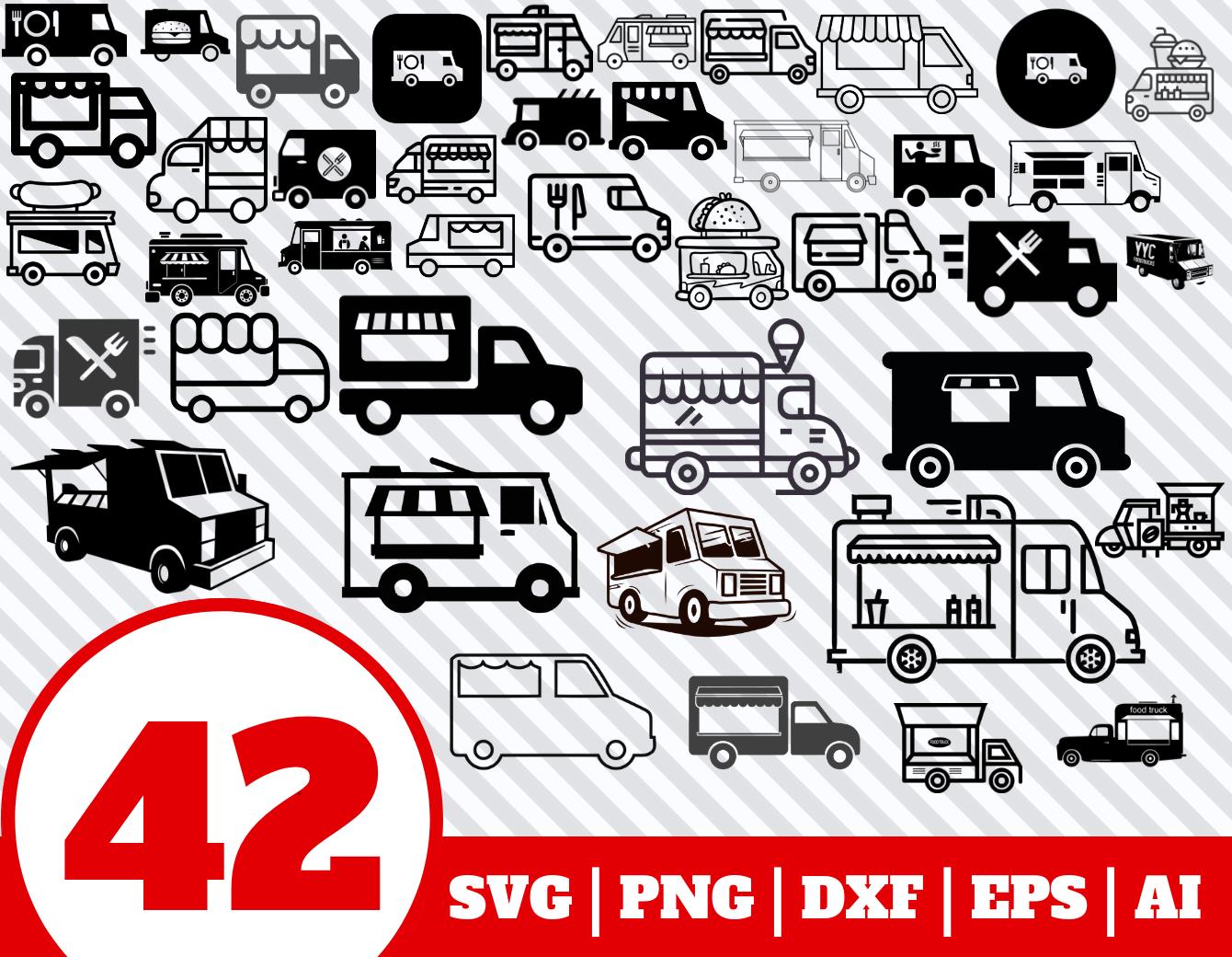 42 Food Truck Svg Bundle Food Truck Clipart Food Truck Vector By Sanfran Thehungryjpeg Com Truck Aff Svg F Graphic Design Art Clip Art Illustrators
