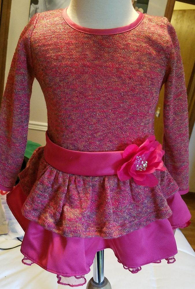 beautiful 24 month sweater dress baby girl christmas pink sparkle santa baby new baby girl christmas santa baby and sweater layering