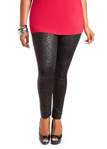 0bce2baa79953 28% Off was $19.50, now is $14.04! Ashley Stewart Women`s Plus Size Faux  Leather Animal Print Legging