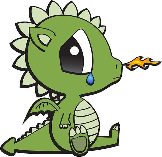 Sad Baby Dragon Print by GreenWillowGifts on Etsy, $15.00 ...