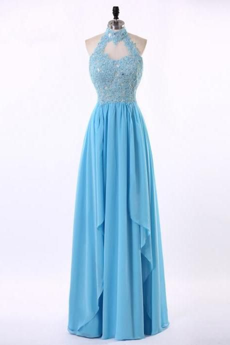 ce3d654f718 Halter Neckline Prom Dress