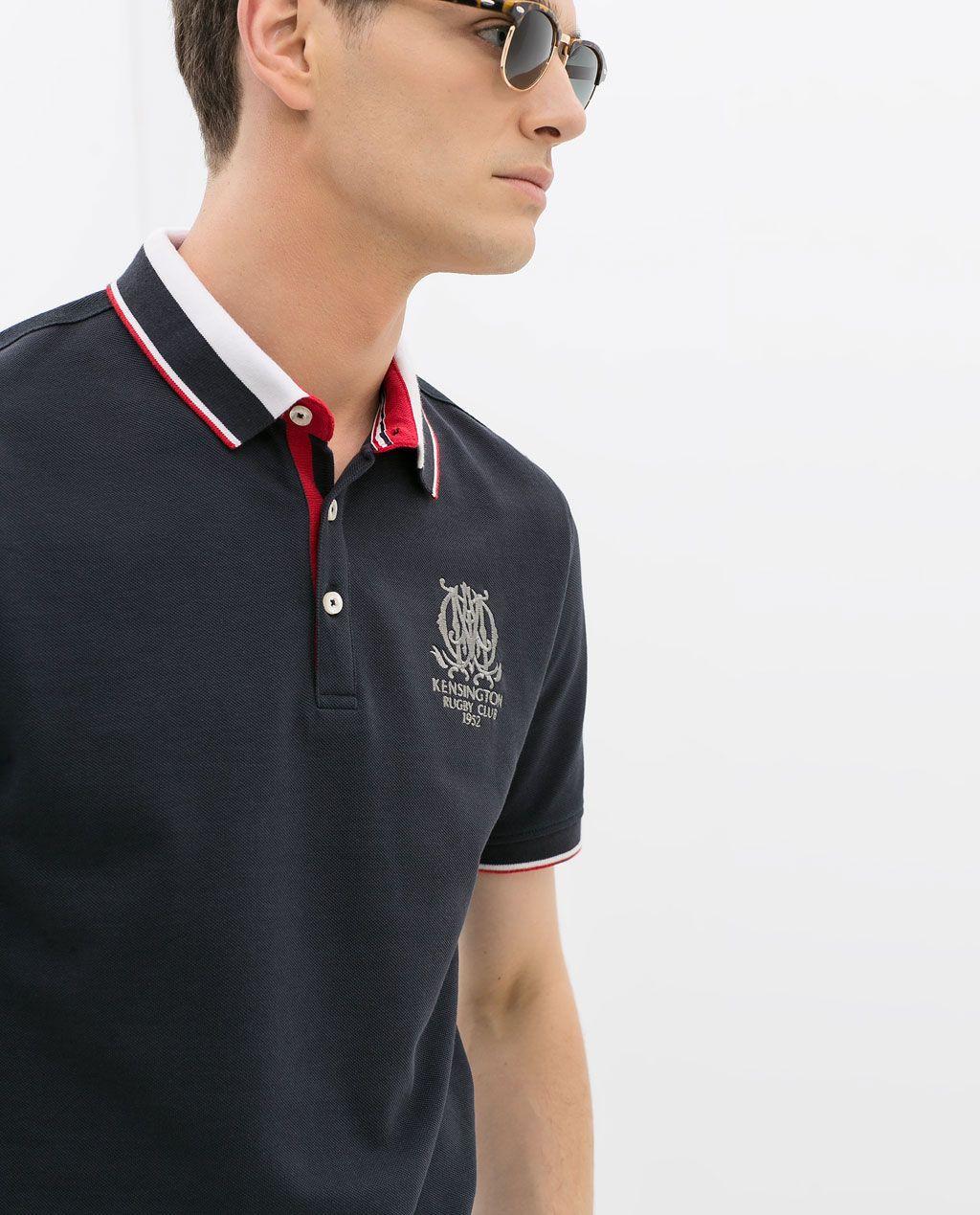ZARA - HOMBRE - POLO PIQUÉ BORDADOS Camisetas Polo Hombre 1e4a039701312