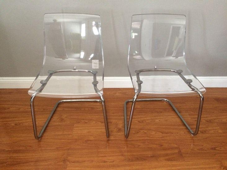 Ikea Tobias Chair Clear Chrome Plated Chrome Plating Chair Chrome