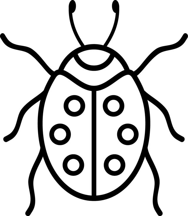 Coloriage coccinelle gratuit recherche google broderies pinterest - Dessin cocinelle ...