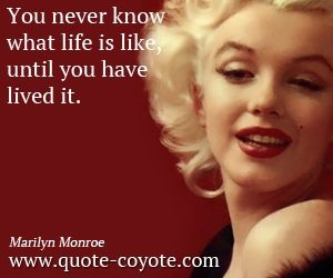 Royalty Free This Life Is What You Make It Marilyn Monroe Quote