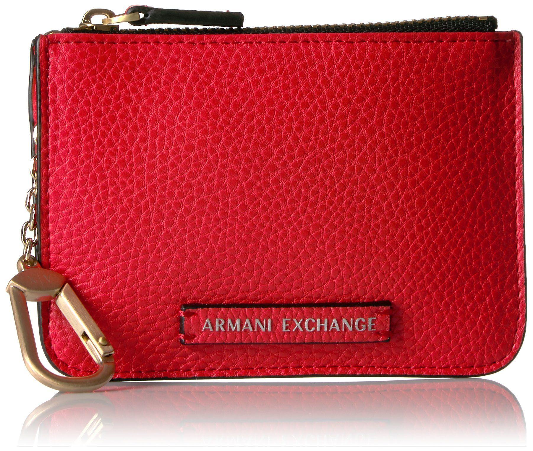 A X Armani Exchange Pebble PU Card Case Wallet
