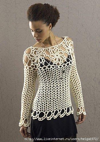 Bellissima maglietta bianca!!! Schema.   häkeln   Pinterest   Blusen ...