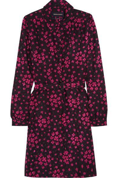 Cherry Printed Silk-jacquard Mini Dress - Purple Vanessa Seward xtfSlc