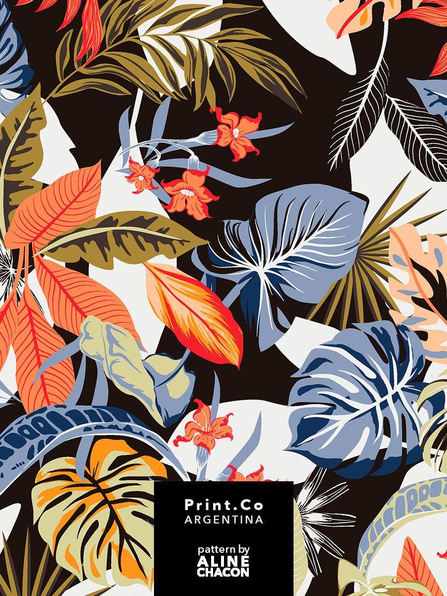 Mais uma estampa Verão 2019 - PrintCo - 4 variantes #flowerpatterndesign
