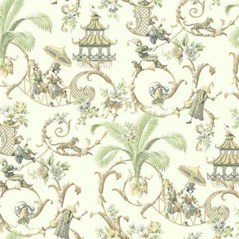 Mandarin Prose Waverly Classics Wallpaper Book Waverly Wallpaper