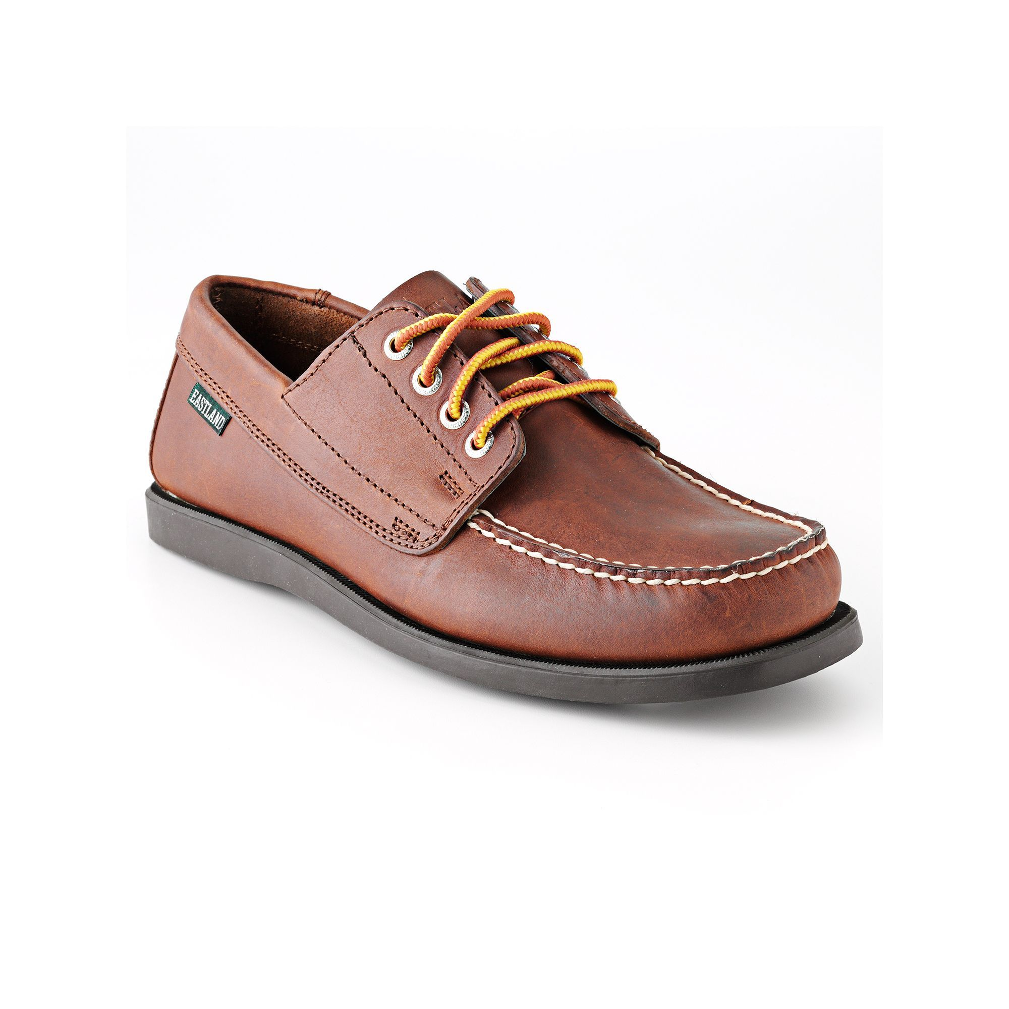 Eastland Mens Boat Shoes Leather Lace up Brown Falmouth Size 9D