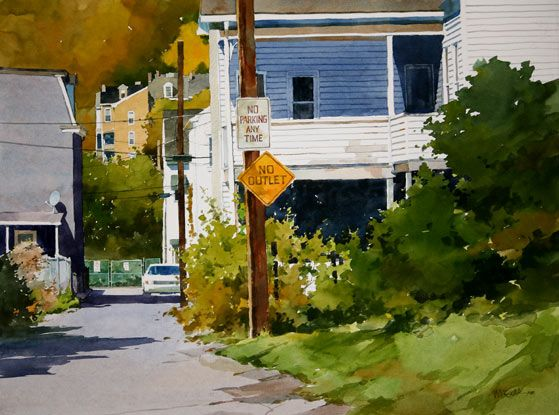 Cityscape Watercolor Pittsburgh