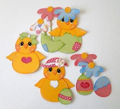 ELITE4U Spring Easter Chicks Pre Made Paper Piecing Album DANDERSON651 | eBay