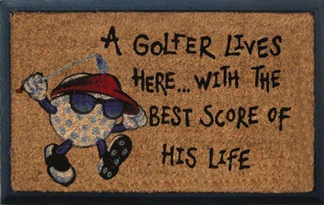 Golf Door Mat #golfgifts #giftsformen