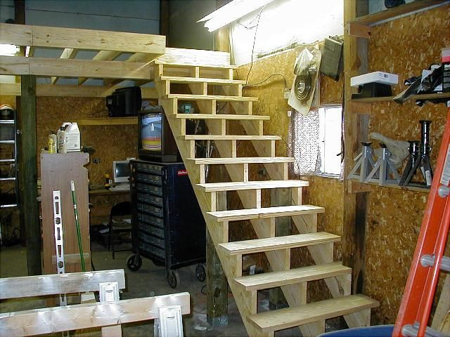 Man Cave Storage Condos : Loft in garage exactly how i want it set up dream