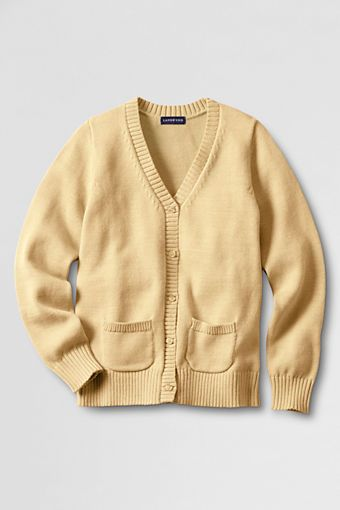 8b2fcd449c5 Women s Button-front Drifter Cardigan Sweater from Lands  End - Maize
