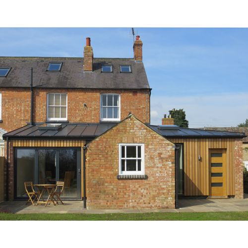 Pin By Lorna Macdougall On Garage Plans: Finished Extension With Cedar Cladding And Anthra Zinc