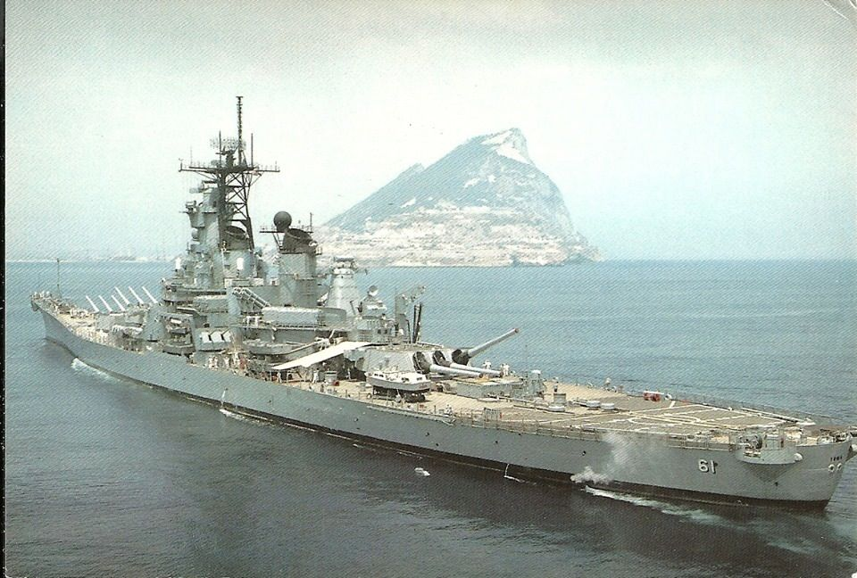 Battleship Iowa passing the rock of Gibralter | U S  Navy